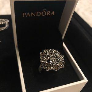 RETIRED AUTHENTIC PANDORA TWOTONE RING